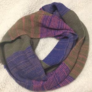 Accessories - Multicolored Knitted Infinity Scarf